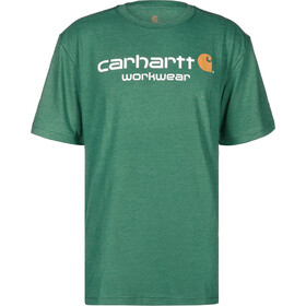 Carhartt Core Logo Workwear Camiseta Hombre, alpine green heather